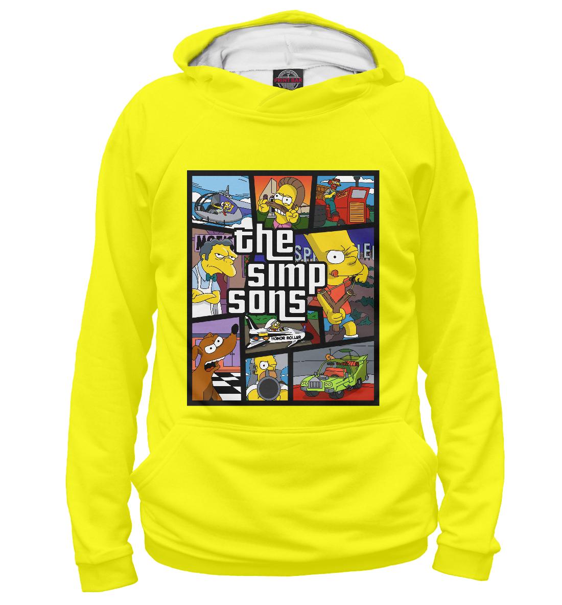 Купить Симпсоны GTA, Printbar, Худи, SIM-155357-hud-1