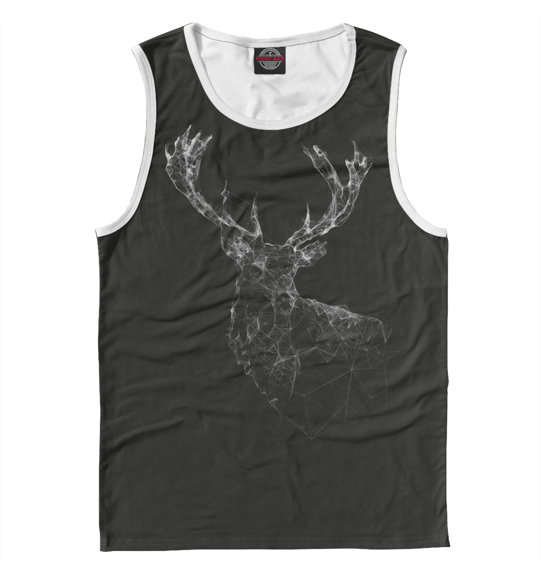Купить Triangular Deer, Printbar, Майки, HIP-432231-may-2