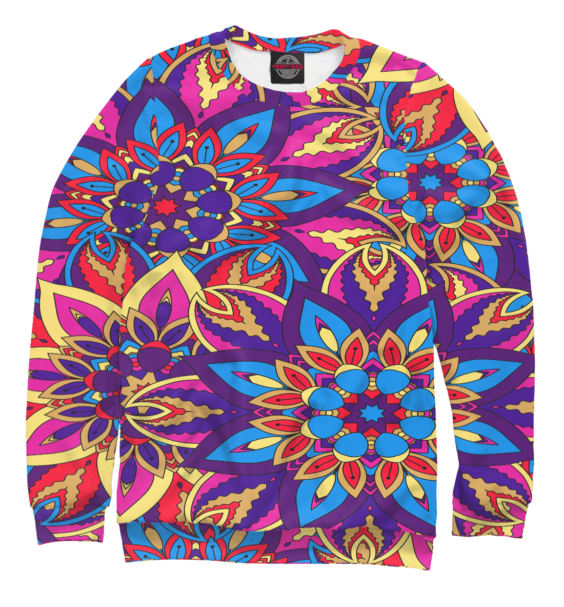 Купить Mandala pattern, Printbar, Свитшоты, APD-397315-swi-2