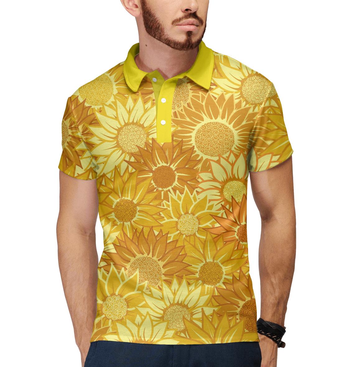 Купить Жёлтые цветы, Printbar, Поло, CVE-931660-pol-2