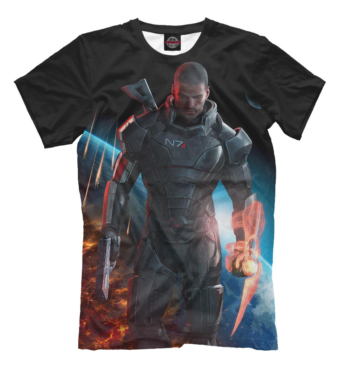 Купить Mass Effect — Шепард, Printbar, Футболки, RPG-414208-fut-2