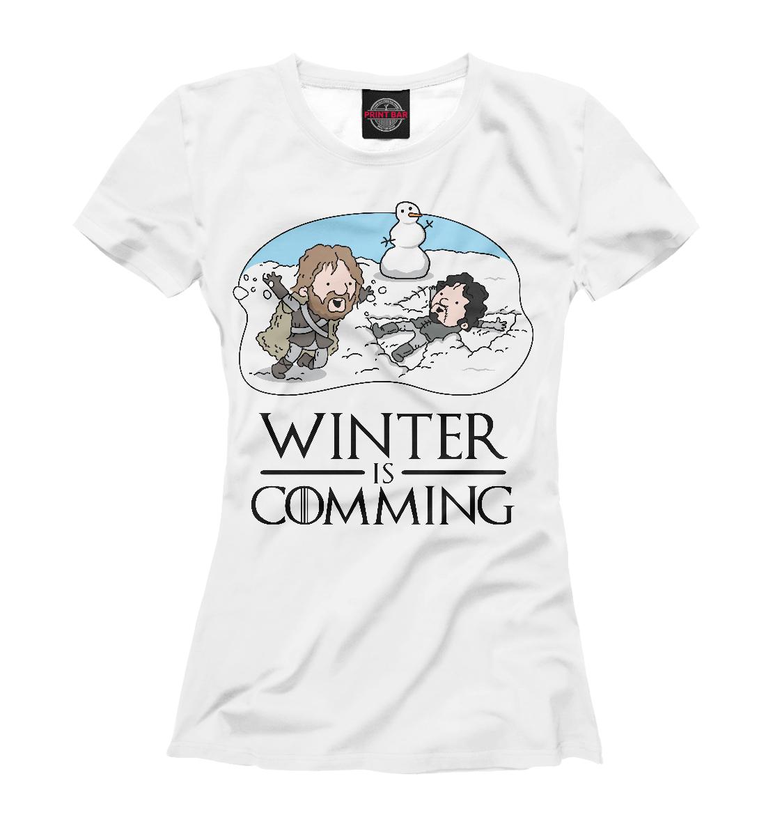 Купить Winter is comming, Printbar, Футболки, IGR-404632-fut-1
