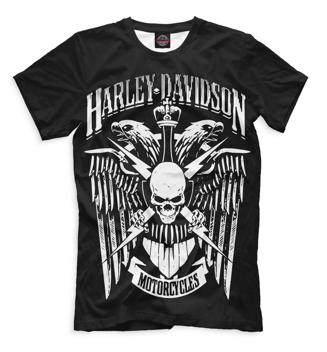Купить Harley Davidson Motorcycles, Printbar, Футболки, MTR-575884-fut-2