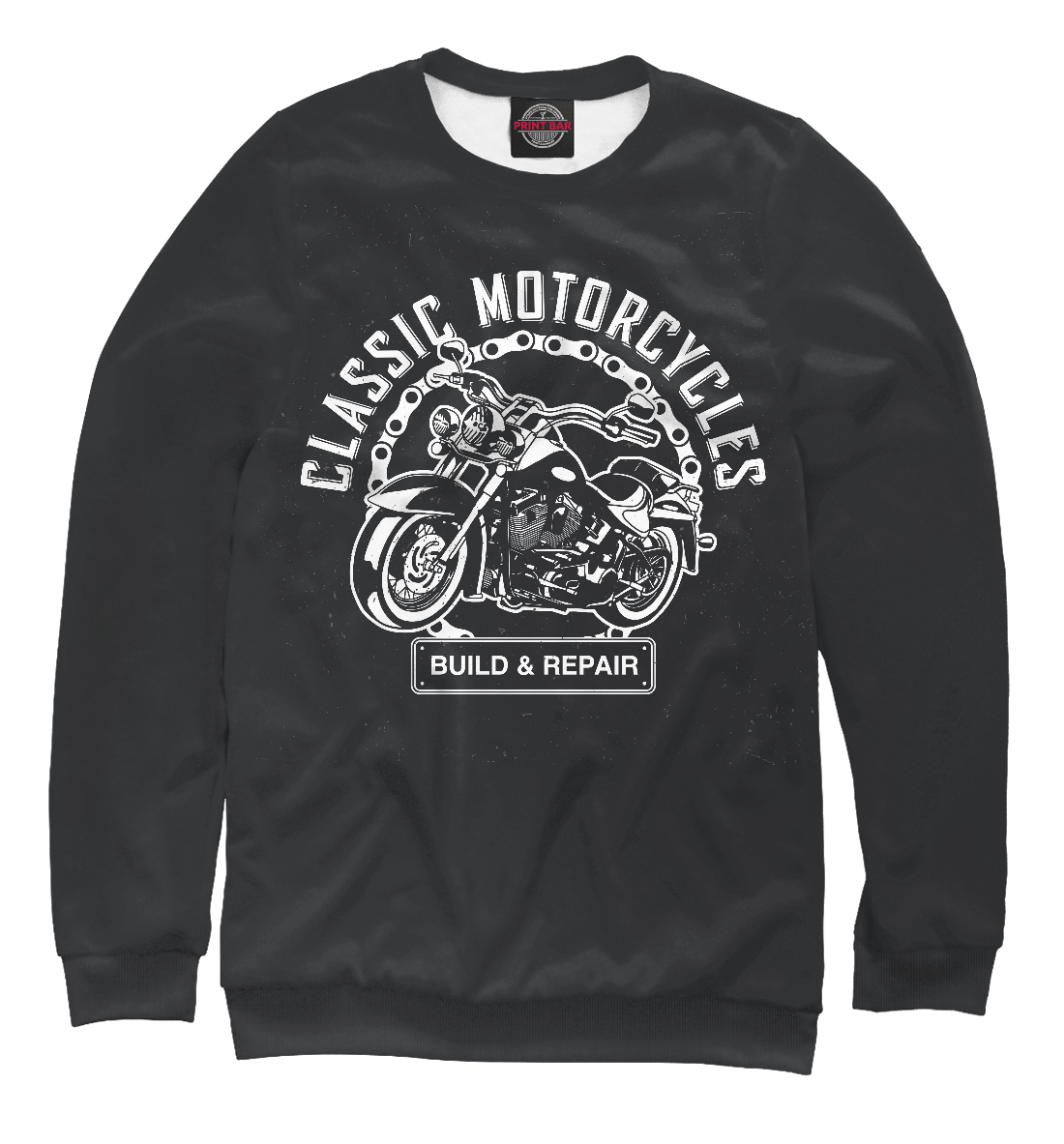 Купить Motorcycles, Printbar, Свитшоты, MTR-990811-swi-1