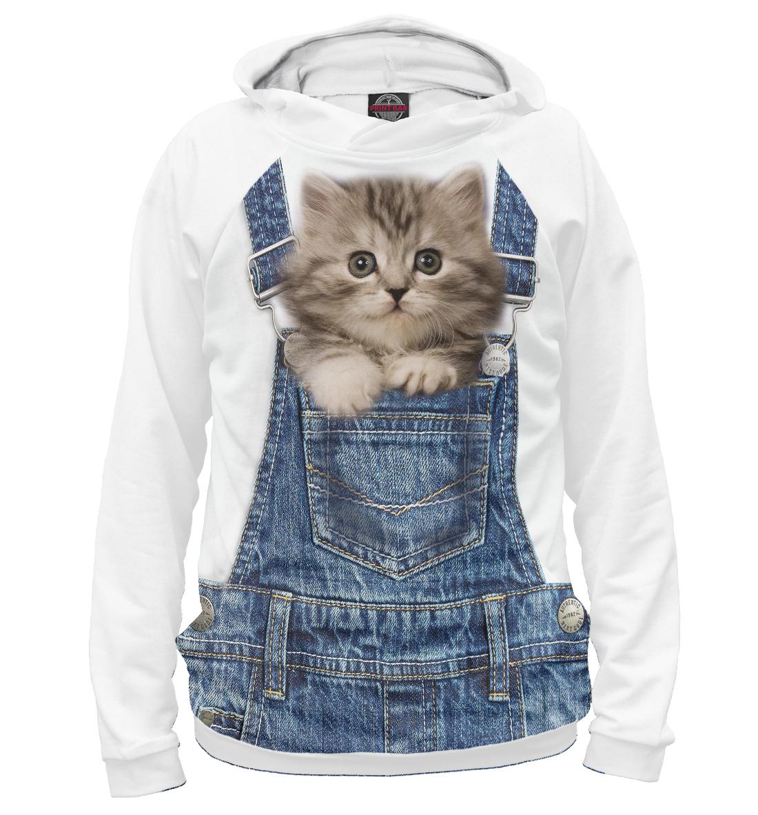 Купить Котенок в кармашке, Printbar, Худи, CAT-855710-hud-2