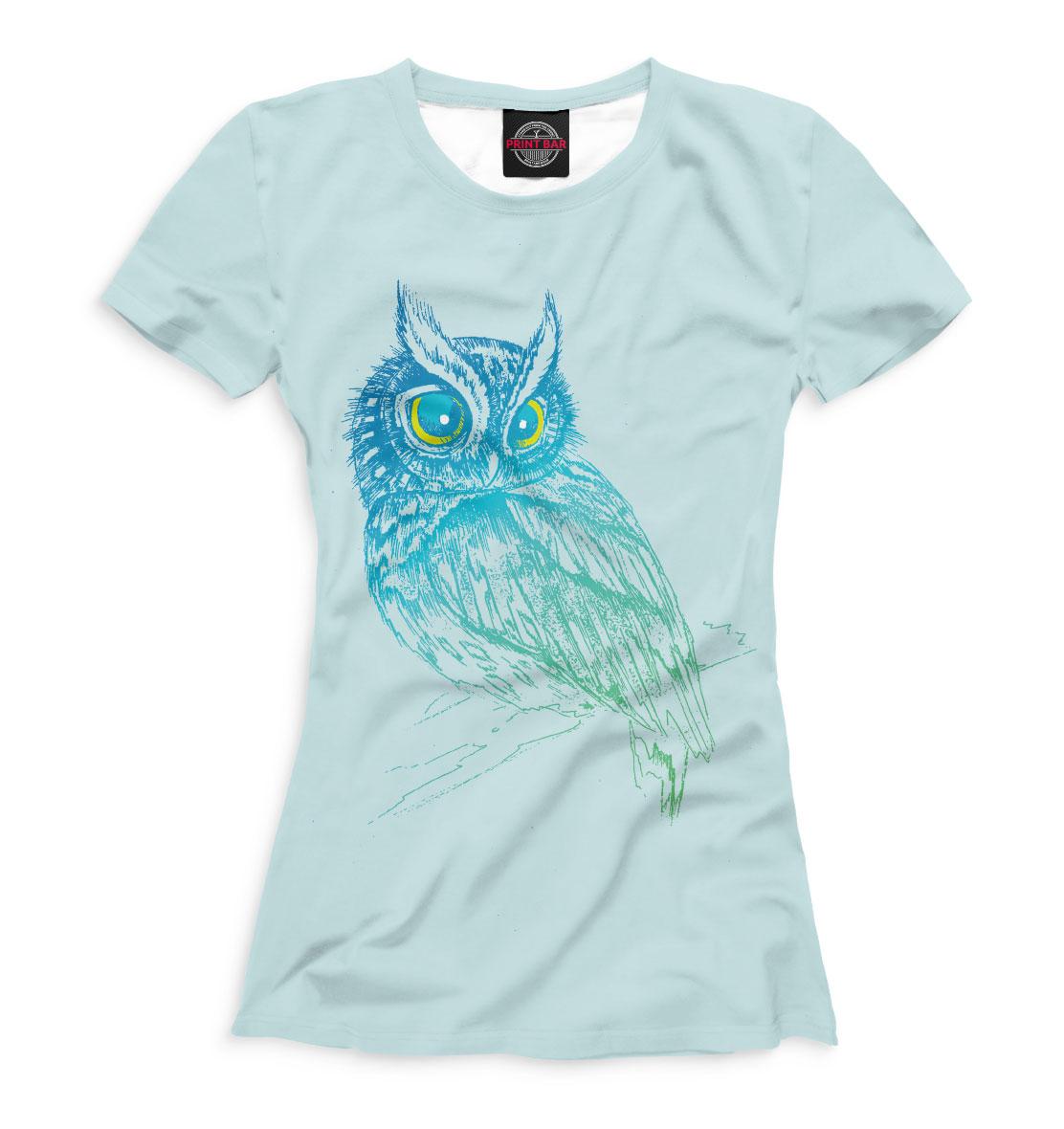 Купить Сова на ветке, Printbar, Футболки, OWL-715085-fut-1