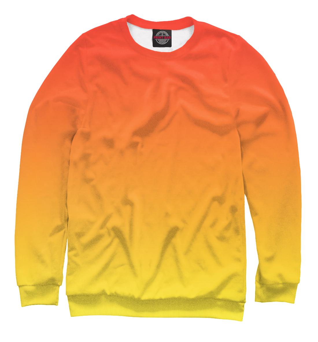 Купить Градиент: Красный в Желтый, Printbar, Свитшоты, CLR-550766-swi-1