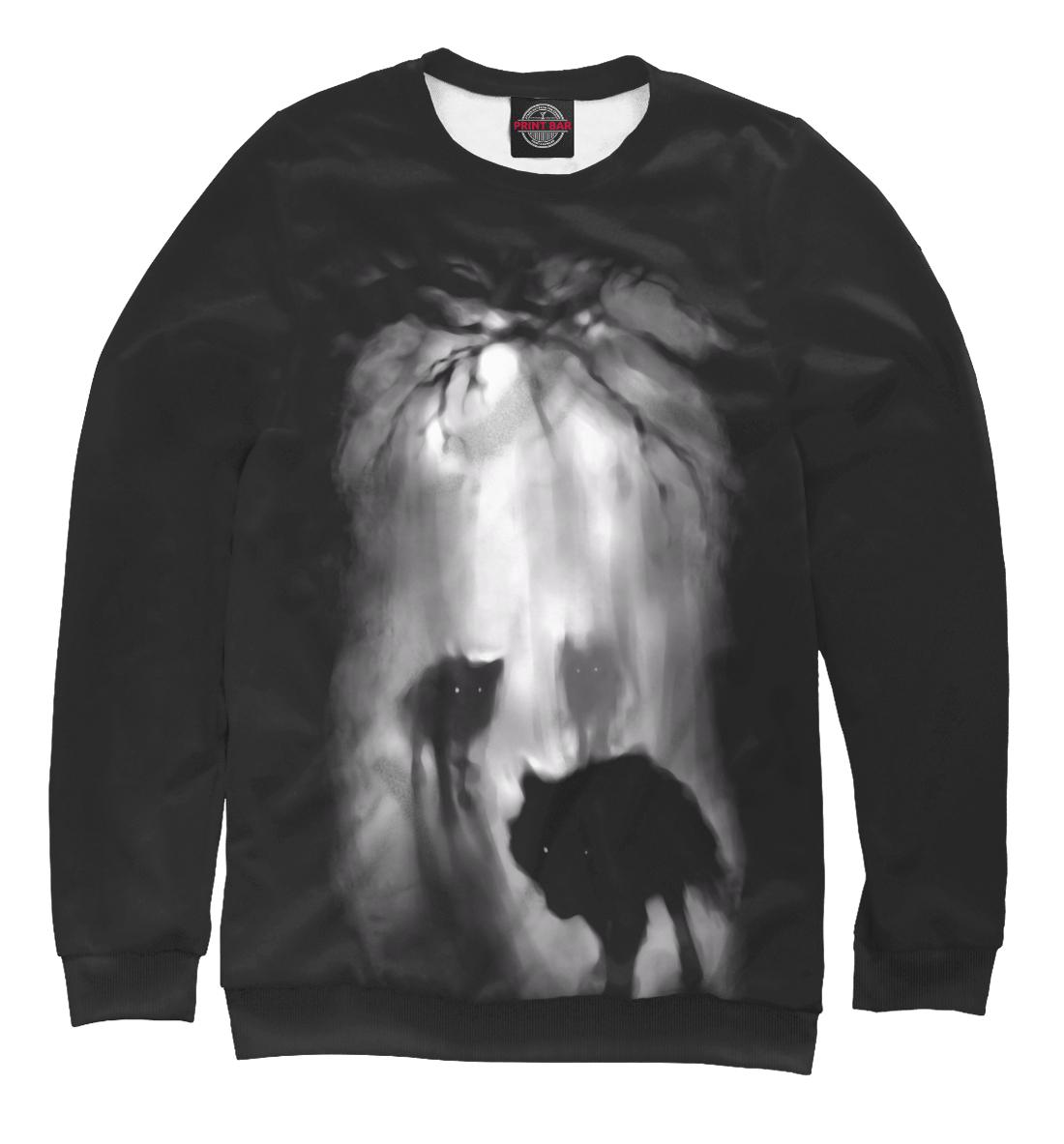 Купить Волки ночью в лесу, Printbar, Свитшоты, VLF-177471-swi-1