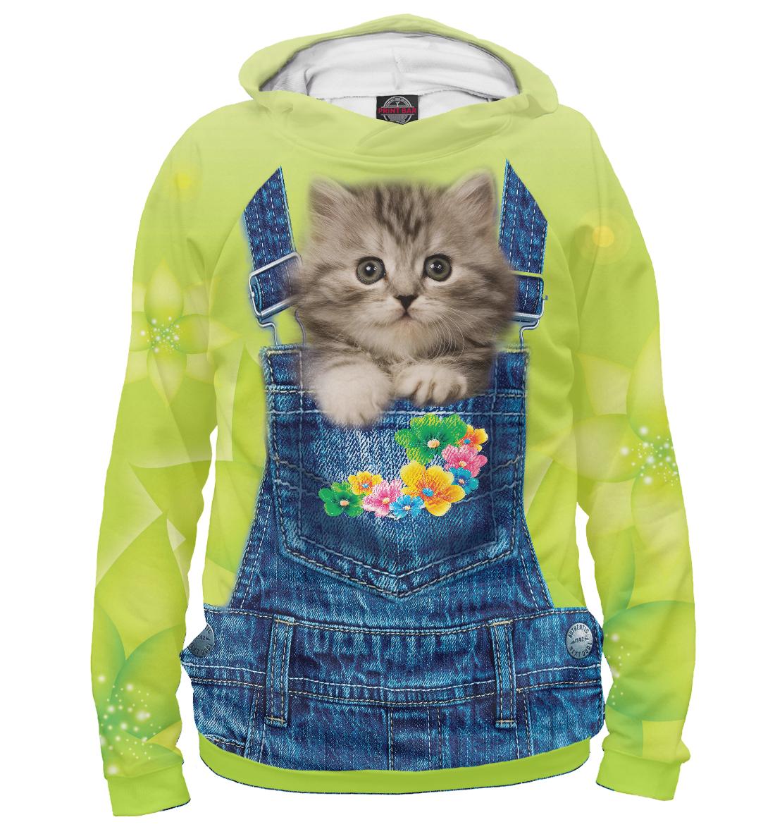 Купить Котенок в кармашке, Printbar, Худи, CAT-380734-hud-2