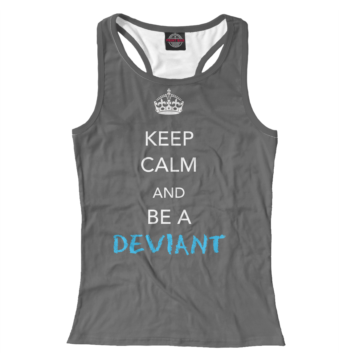 Купить Keep calm and be a deviant, Printbar, Майки борцовки, NDP-496422-mayb-1