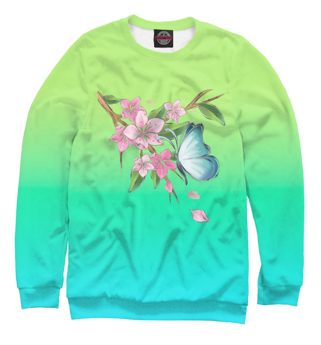 Купить Бабочка на дереве, Printbar, Свитшоты, NAS-400410-swi-2
