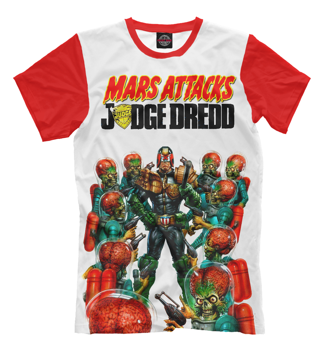 Купить Mars attacks Judge Dredd, Printbar, Футболки, CMX-464028-fut-2