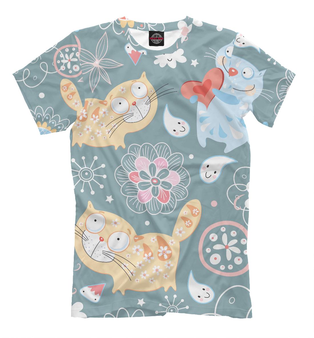 Купить Милые котики, Printbar, Футболки, CAT-342824-fut-2