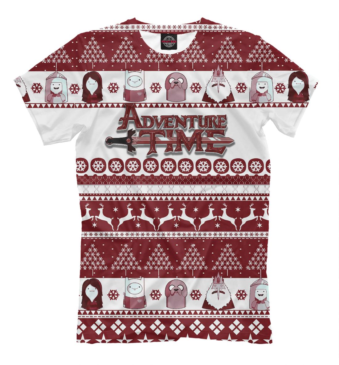 Купить Christmas Adventure Time, Printbar, Футболки, NOV-685295-fut-2