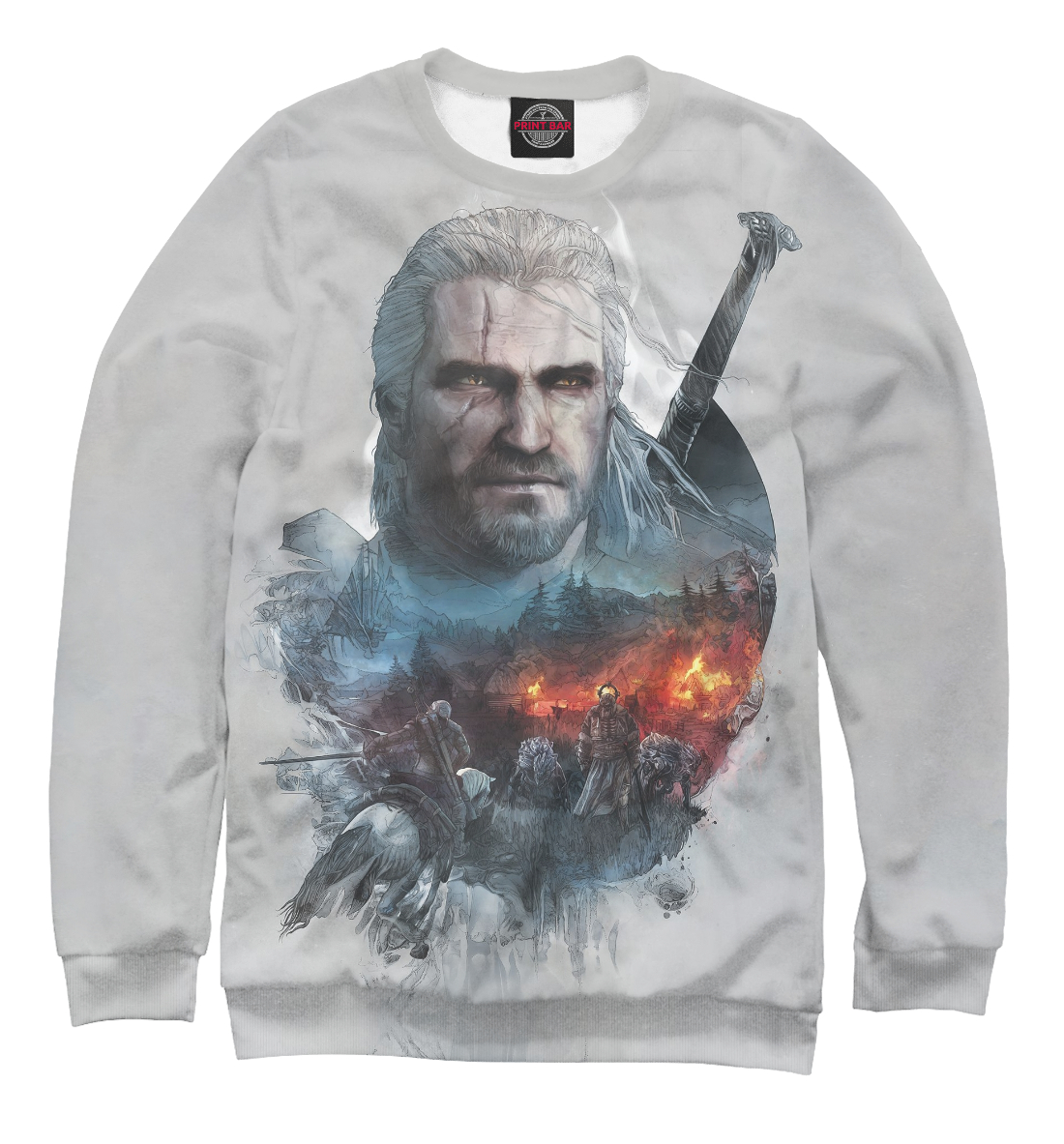 Купить The Witcher 3: Wild Hunt, Printbar, Свитшоты, WTR-406749-swi-1