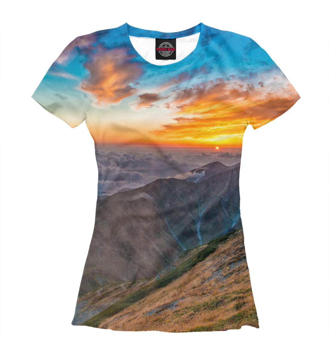Купить Горный пейзаж, Printbar, Футболки, PEY-118816-fut-1