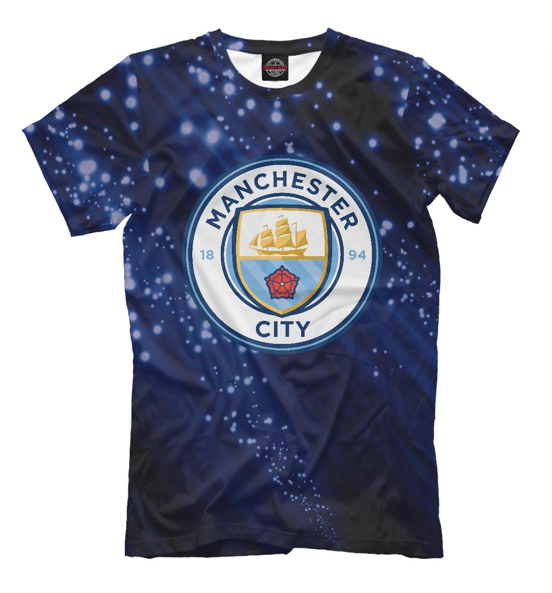 Купить FC Manchester City Abstract, Printbar, Футболки, MNC-139119-fut-2