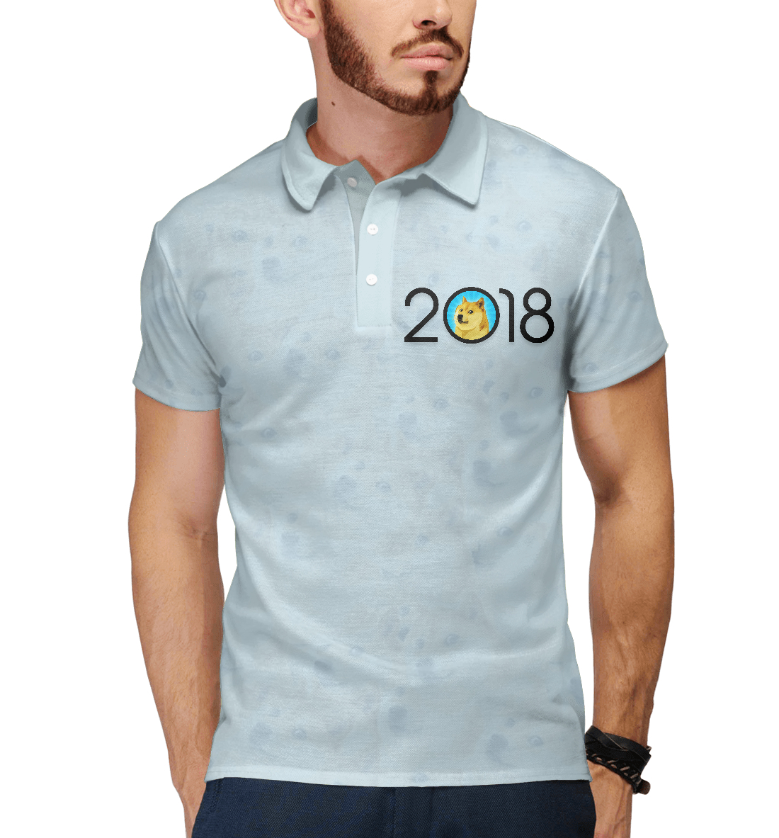 Купить 2018 Doge Year, Printbar, Поло, NOV-116937-pol-2