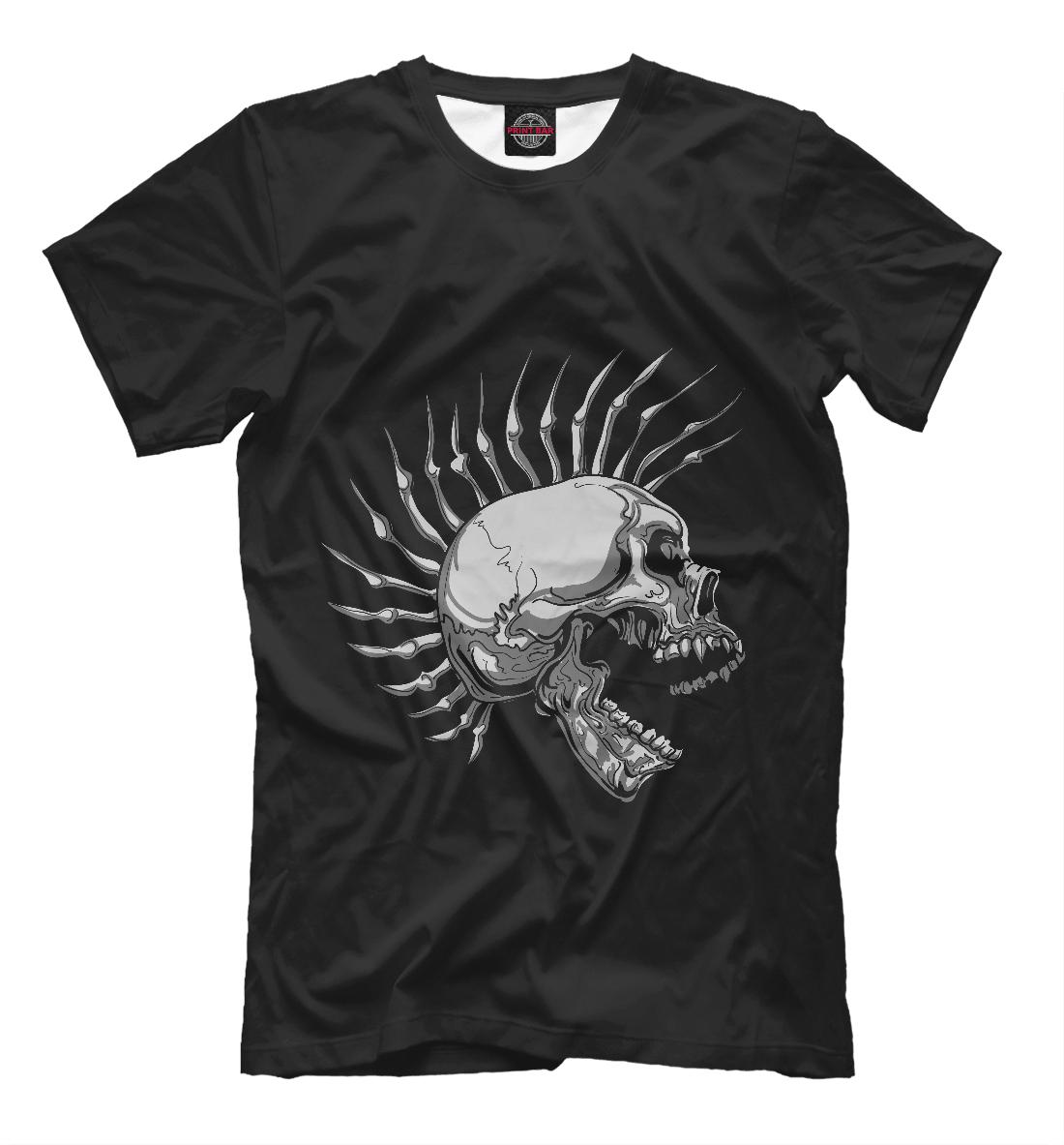 Купить Hardcore Punk Skull, Printbar, Футболки, SKU-920764-fut-2