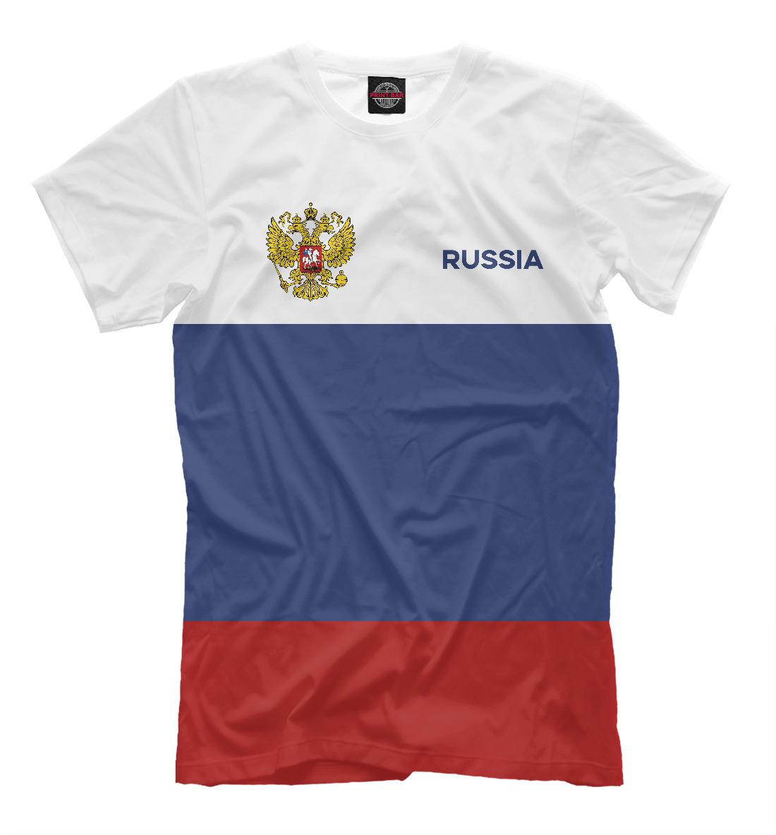 Купить Russia Tricolour, Printbar, Футболки, SRF-538062-fut-2