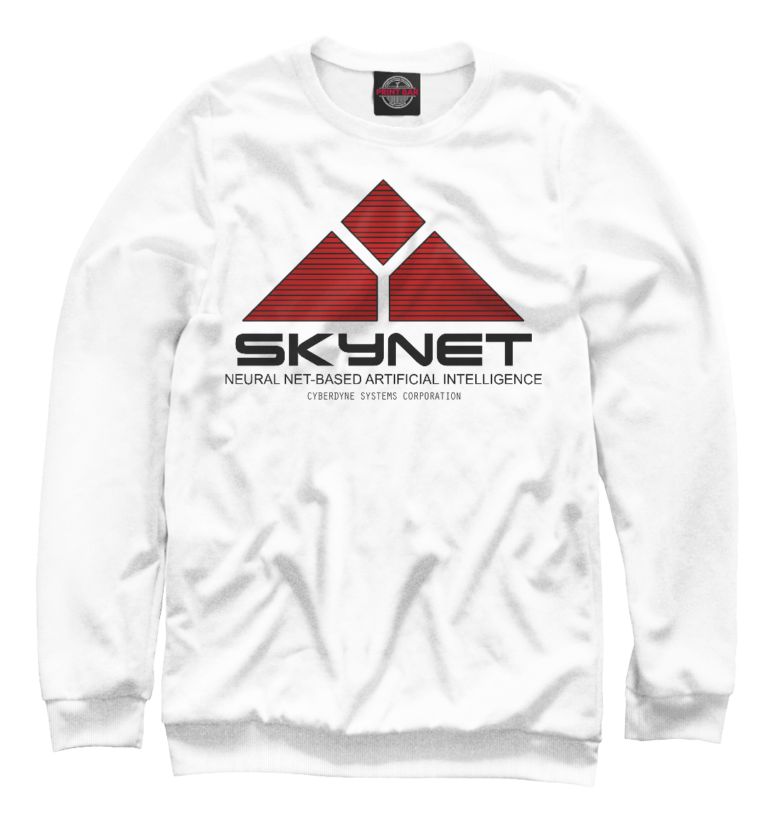 Купить Skynet logo white, Printbar, Свитшоты, TER-551832-swi-2