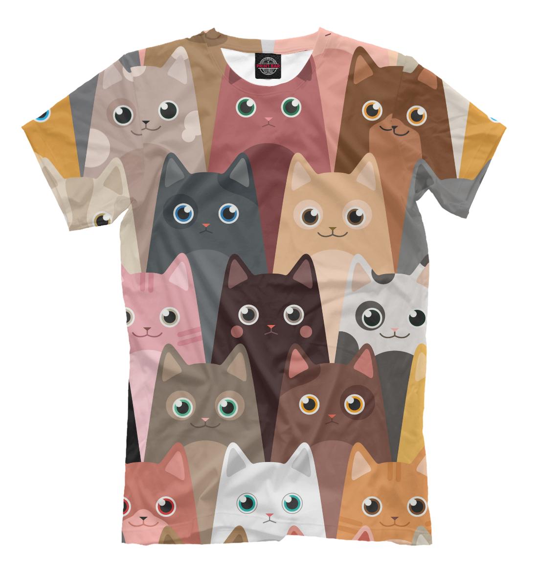 Мультяшные кошки, Printbar, Футболки, CAT-694431-fut-2  - купить со скидкой