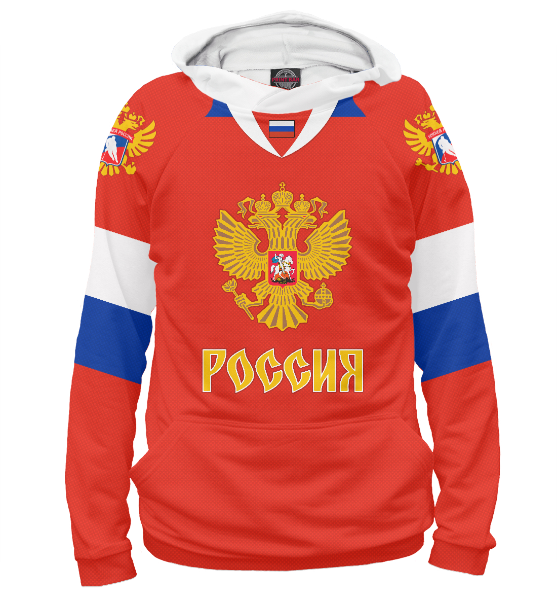Купить Форма Сборной России по Хоккею 2018, Printbar, Худи, HOK-991657-hud-2