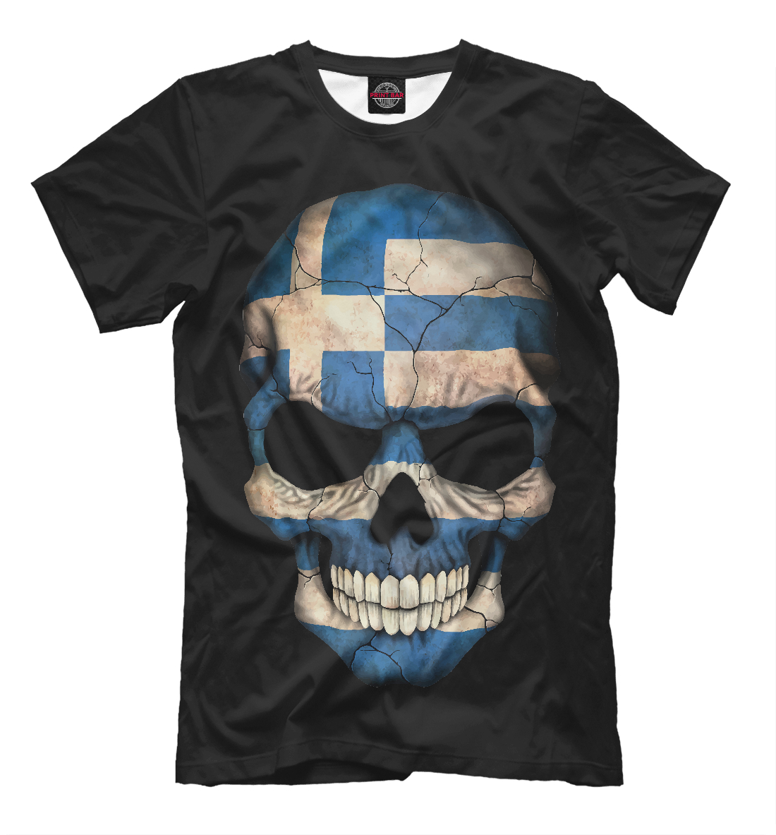 Купить Череп - Греция, Printbar, Футболки, CTS-687350-fut-2