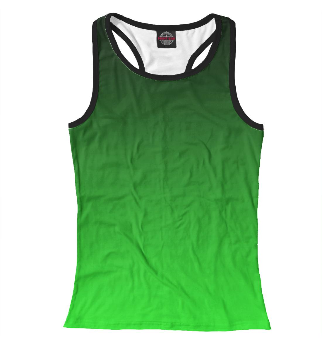Купить Градиент Зеленый в Черный, Printbar, Майки борцовки, CLR-327769-mayb-1