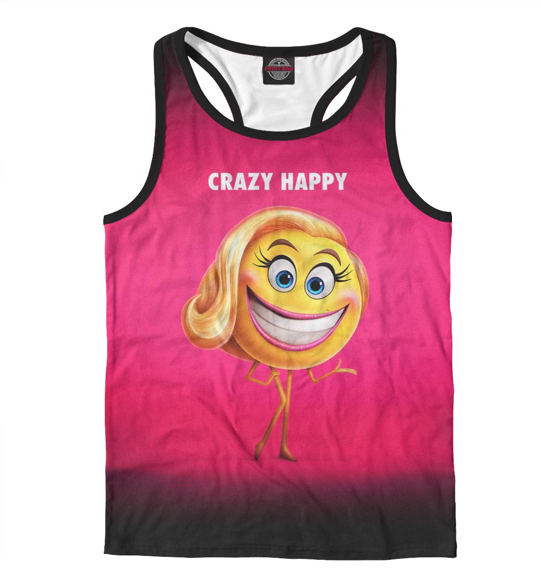 Купить Crazy Happy, Printbar, Майки борцовки, EMJ-645138-mayb-2