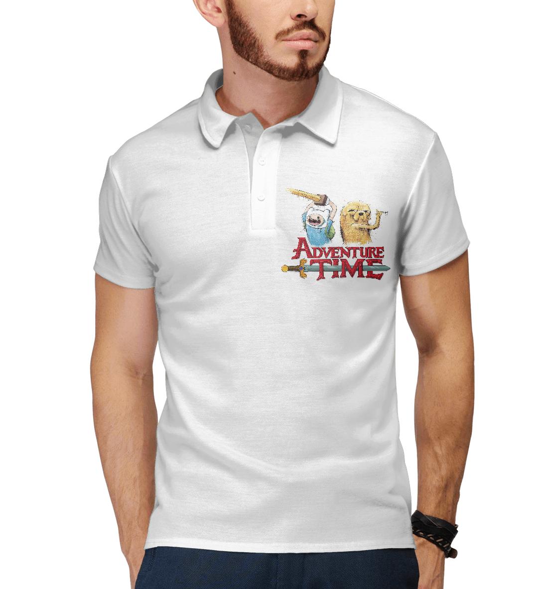 Купить Adventure Time Finn and Jake, Printbar, Поло, ADV-109309-pol-2