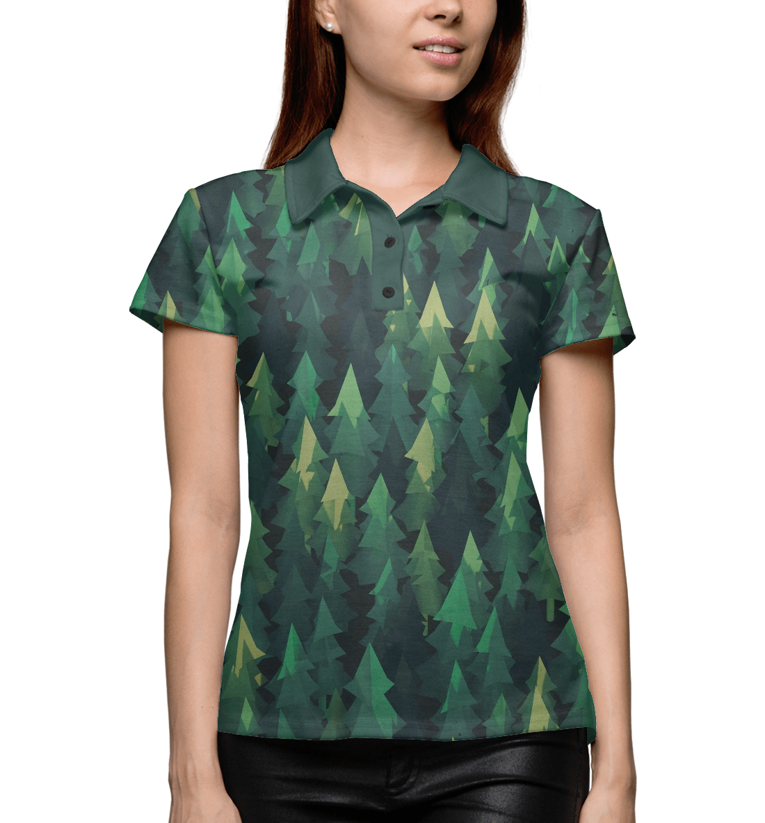 Купить Simple forest, Printbar, Поло, APD-523867-pol-1