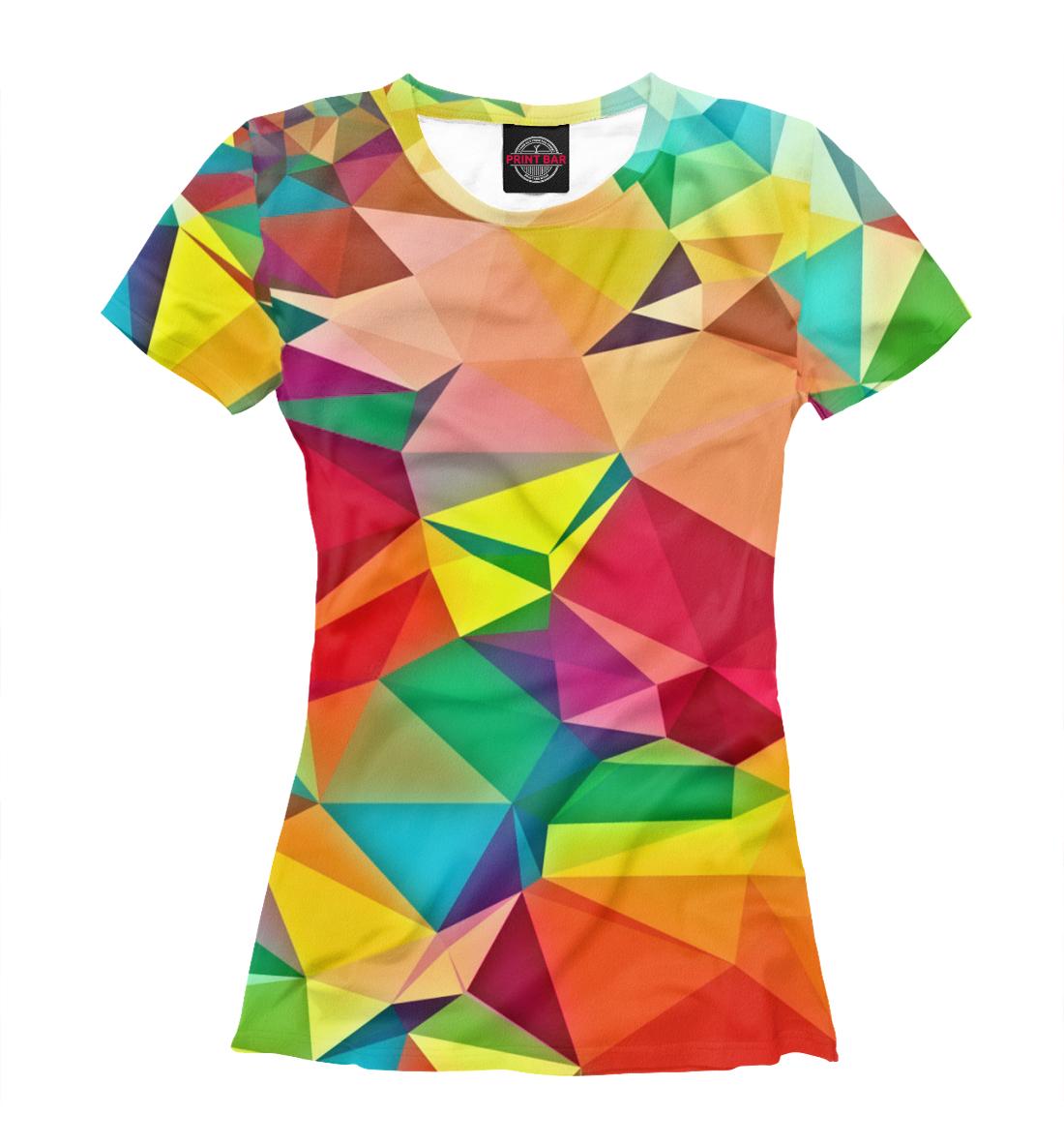 Купить Цветная абстракция, Printbar, Футболки, ABS-277635-fut-1