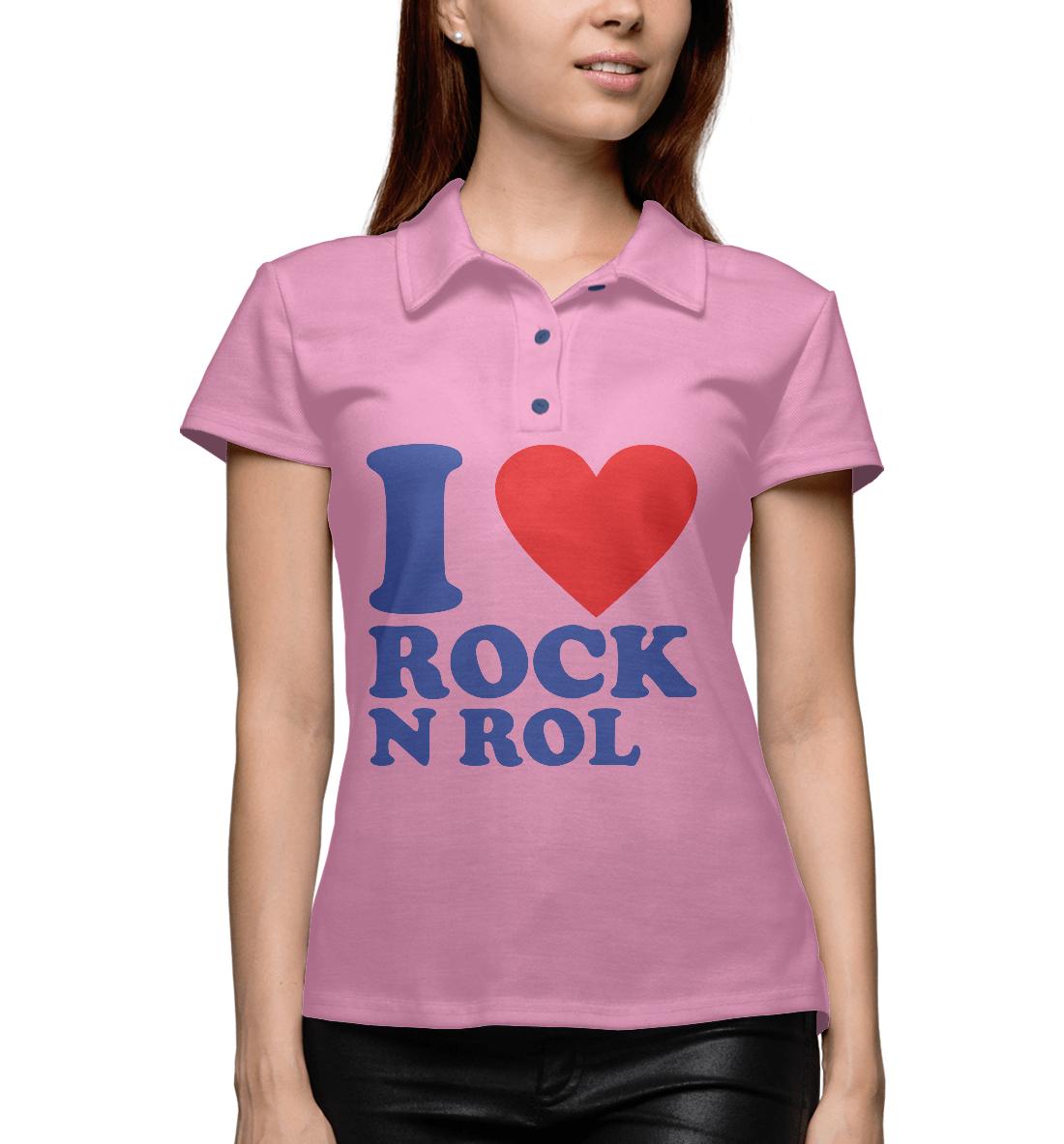 Купить I love rock-n-roll, Printbar, Поло, MZK-994305-pol-1