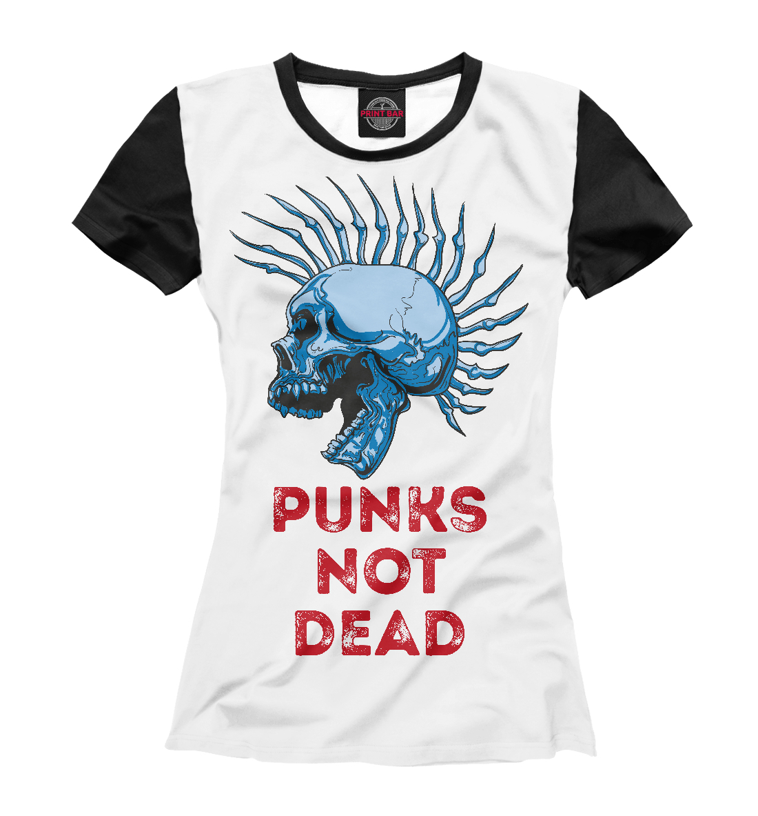 Купить Punks not dead, Printbar, Футболки, MZK-680959-fut-1