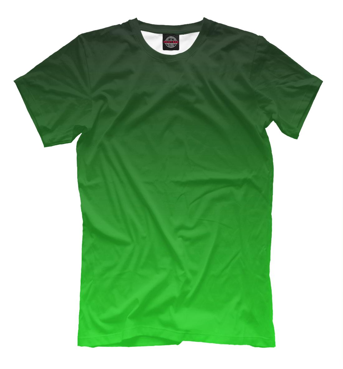 Купить Градиент Зеленый в Черный, Printbar, Футболки, CLR-327769-fut-2