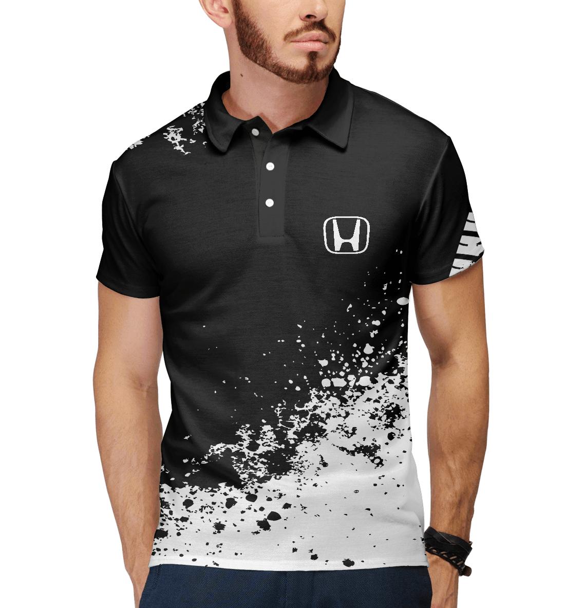 Купить Honda abstract sport uniform, Printbar, Поло, AMP-932601-pol-2