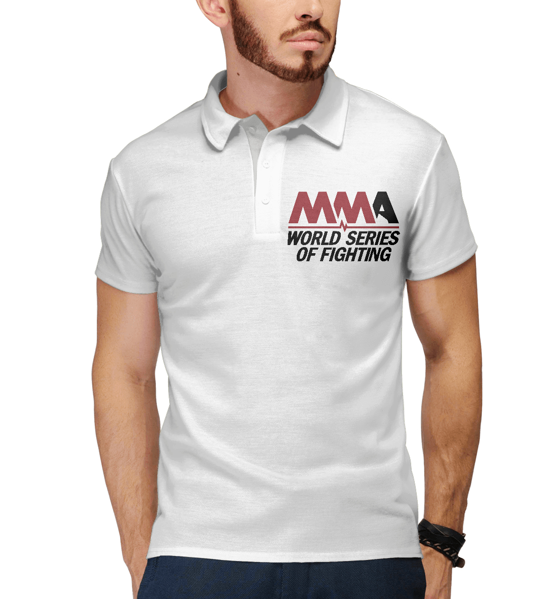 Купить MMA World Series Of Fighting, Printbar, Поло, MNU-873955-pol-2