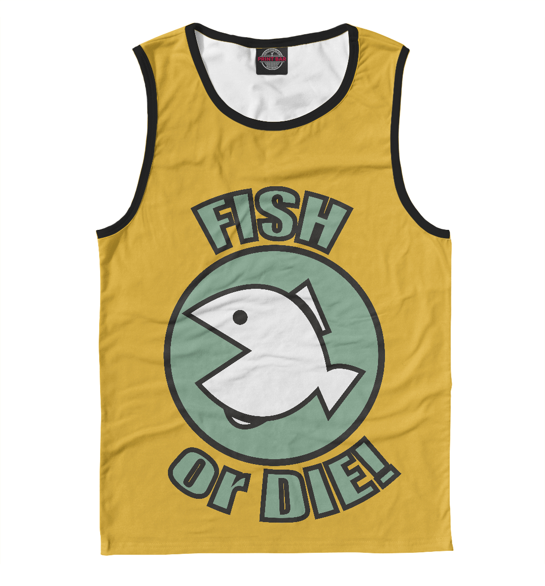 Купить Fish or Die, Printbar, Майки, FSH-477155-may-2