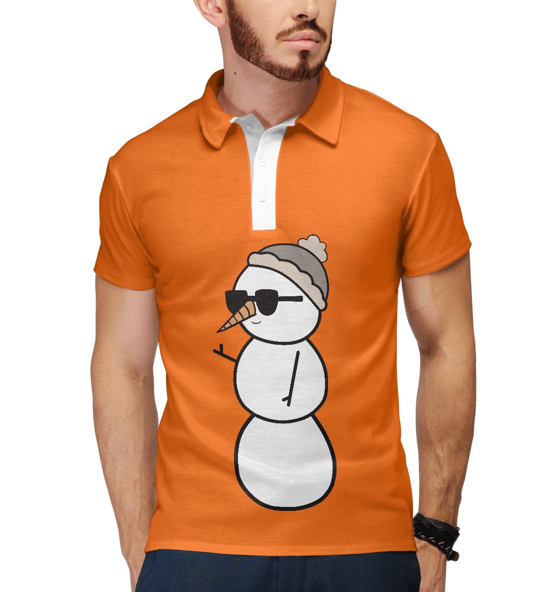 Купить Крутой снеговик, Printbar, Поло, NOV-949773-pol-2