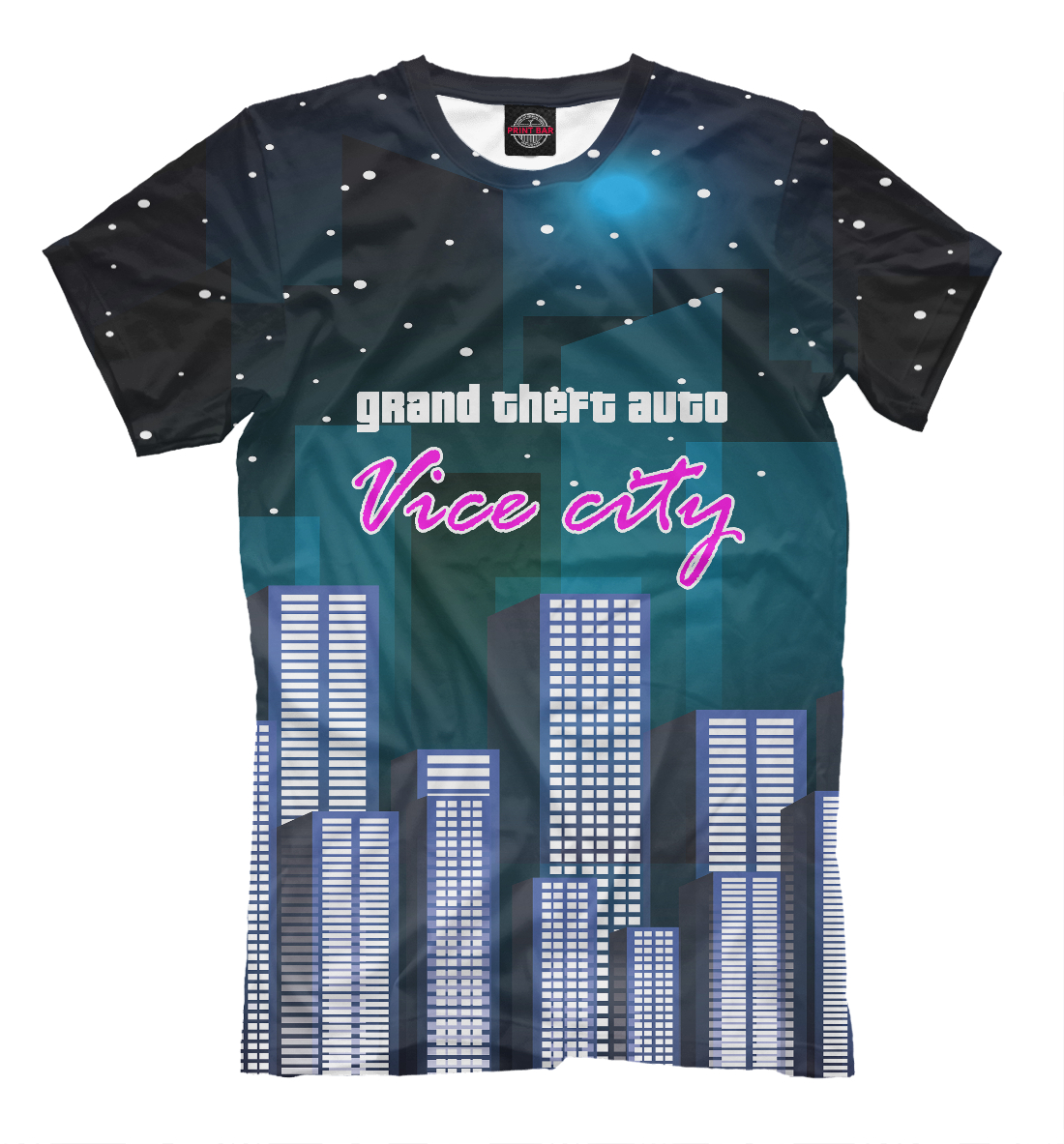 Купить Gta vice city, Printbar, Футболки, ROC-986391-fut-2