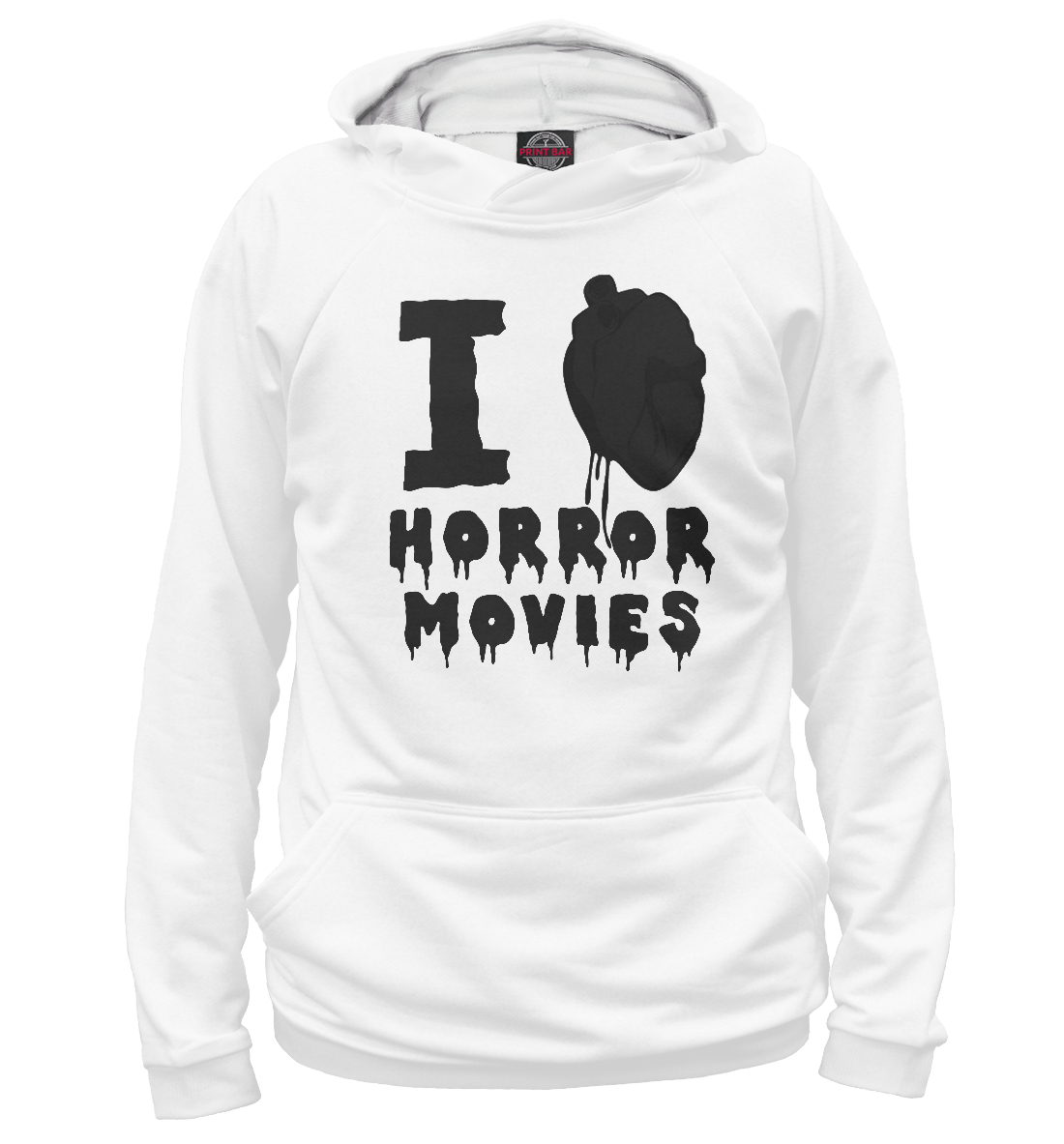 Купить I love horror movies, Printbar, Худи, NDP-315084-hud-2