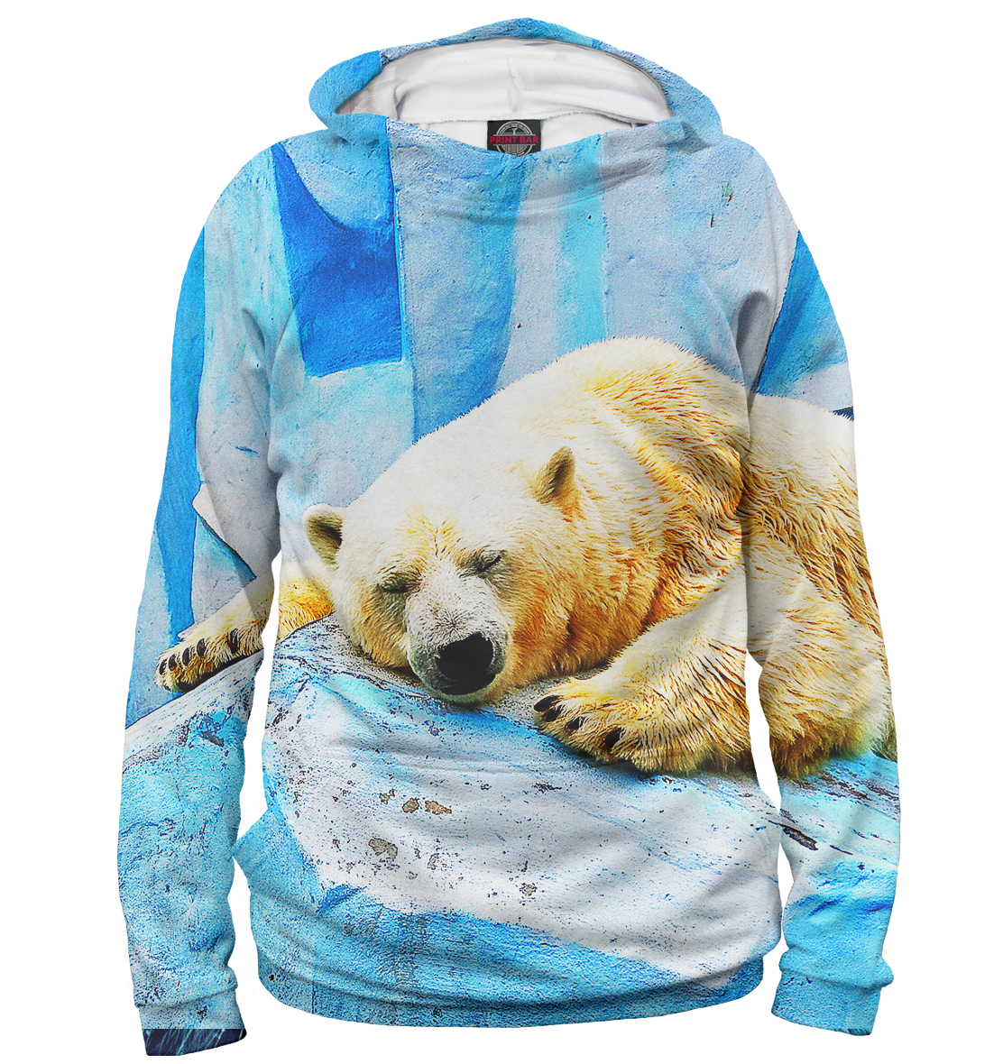 Купить Спящий белый медведь, Printbar, Худи, MED-797307-hud-1