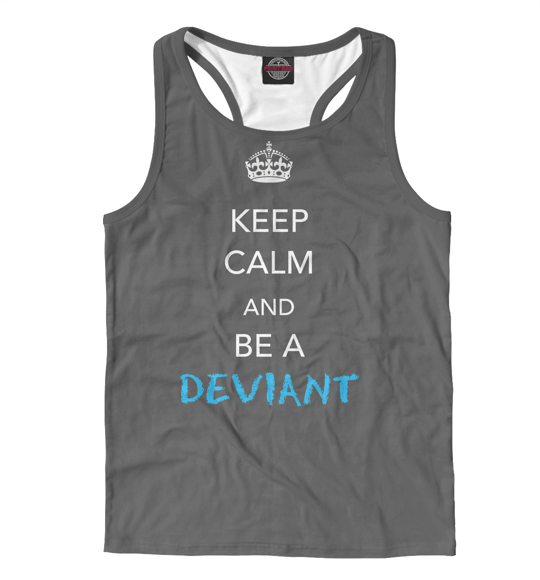 Купить Keep calm and be a deviant, Printbar, Майки борцовки, NDP-496422-mayb-2