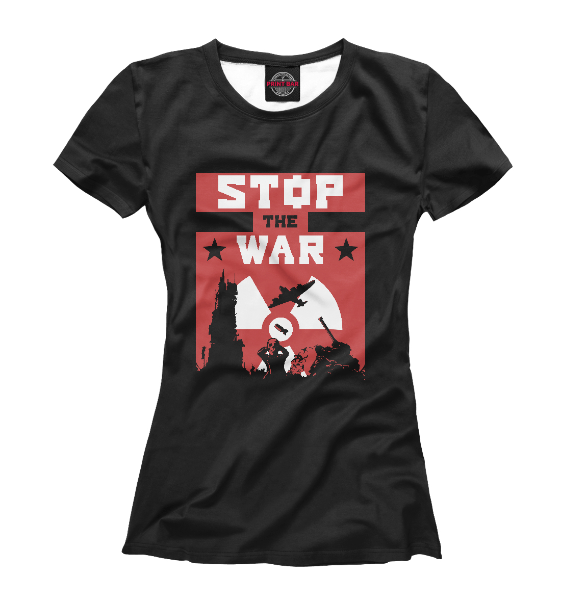 Купить Stop the War, Printbar, Футболки, NDP-190474-fut-1