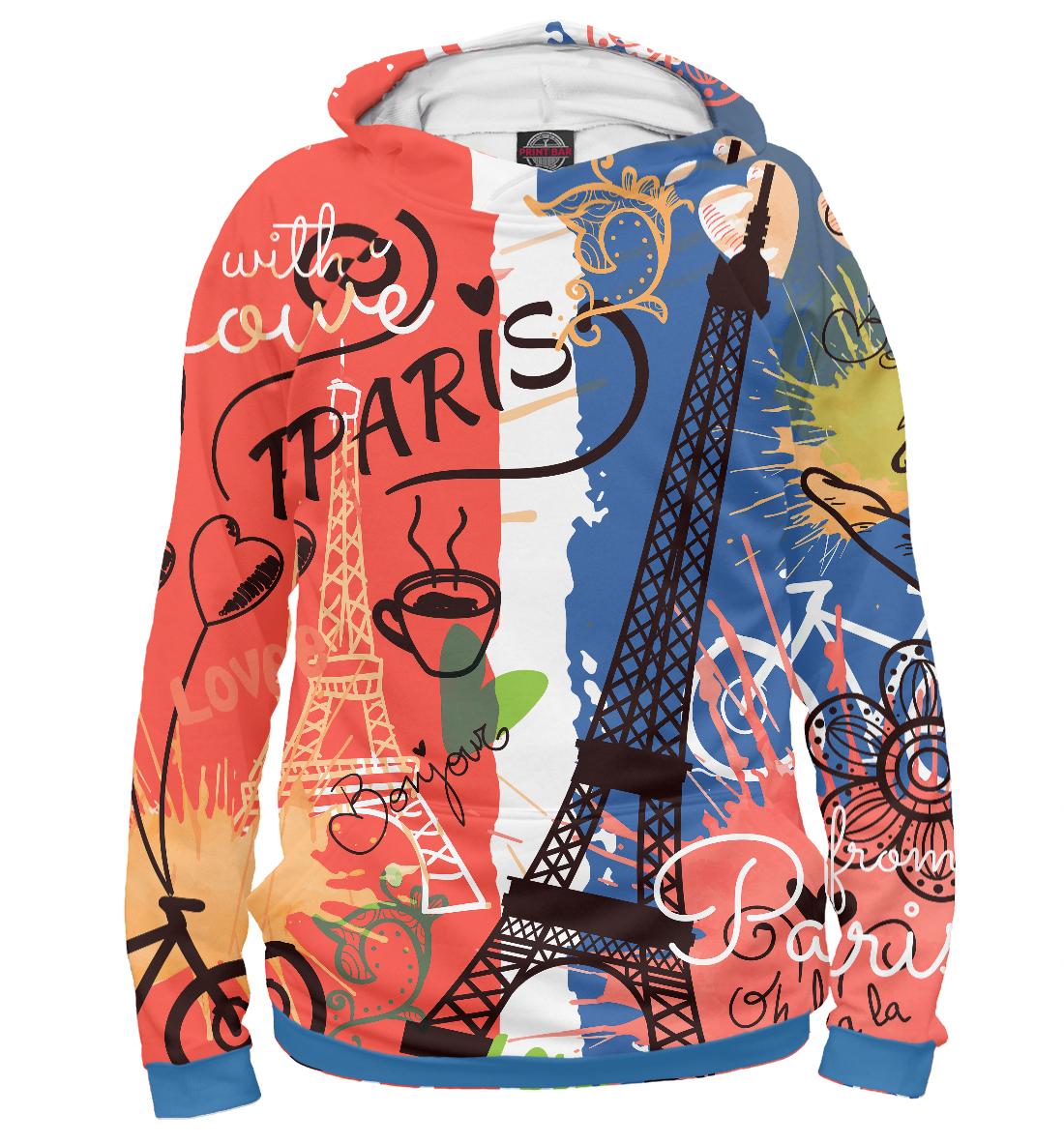 Купить Paris with Love, Printbar, Худи, CTS-768191-hud-2