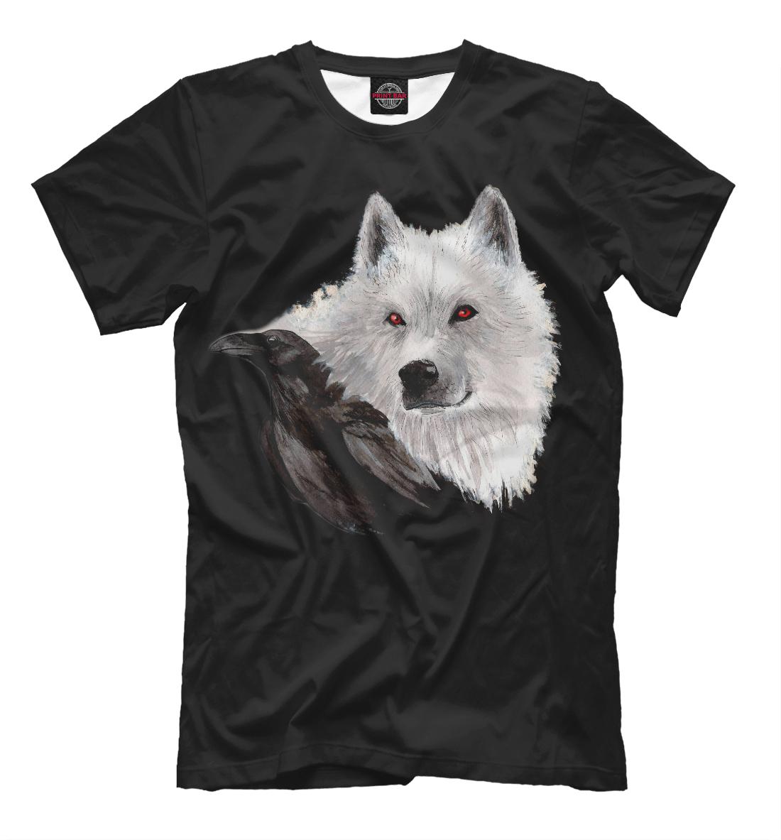 Купить Белый волк и чёрный ворон, Printbar, Футболки, ZIR-407046-fut-2
