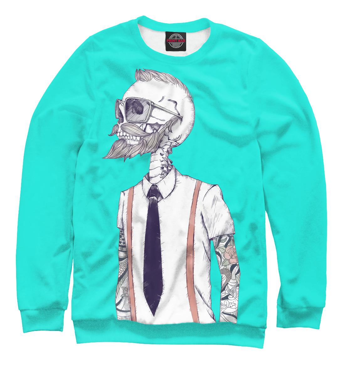 Купить Скелет хипстер, Printbar, Свитшоты, HIP-472435-swi-1