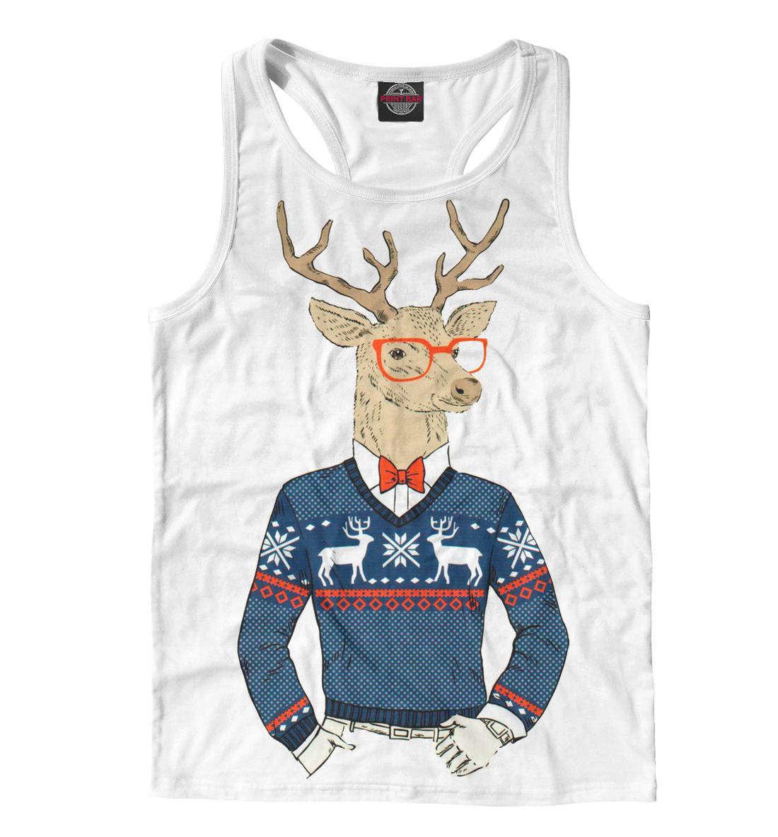 Купить Олень в свитере, Printbar, Майки борцовки, HIP-463815-mayb-2