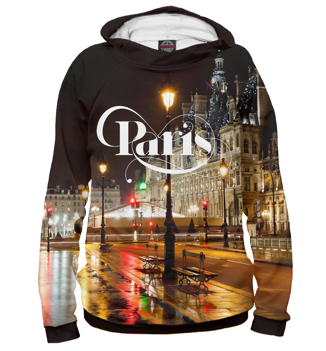 Купить Ночной Париж, Франция, Printbar, Худи, CTS-816734-hud-2